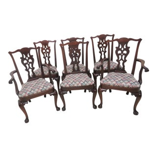 Old Sturbridge Village Mahogany Queen Anne Dining Chairs - Set of 6