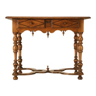 18th C. Antique French Fruitwood Writing Table