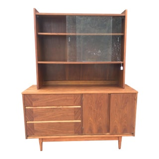 Mid-Century Two Piece Shelving Unit