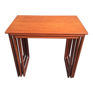Danish Teak Nesting Tables - Set of 3