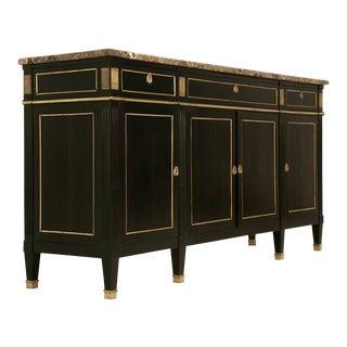Jansen Style Louis XVI Ebonized French Buffet