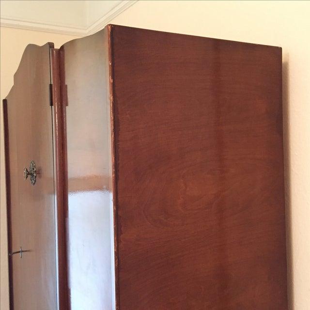 Mid-Century Deco Style Walnut Armoire - Image 7 of 11