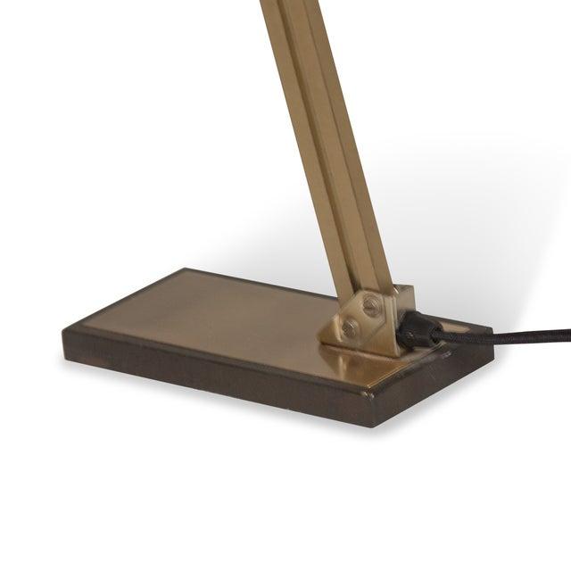Vintage German 1960s Bronze Pivoting Desk Lamp - Image 9 of 10
