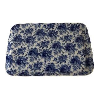 Blue & White Harry & David Ceramic Tray