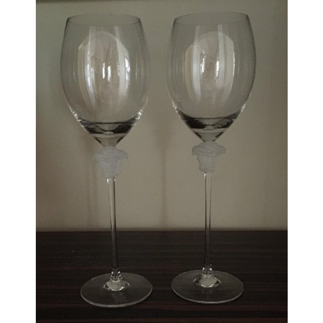 Image of Versace Wine Goblets - A Pair