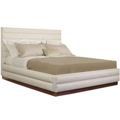 Hickory Chair Chamber Leather Queen Bed - Image 1 of 5