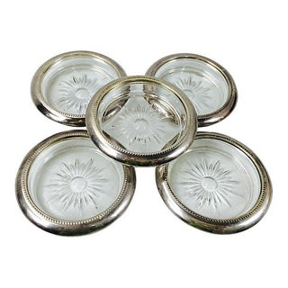 Italian Silver & Crystal Coasters