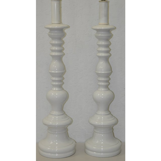 Image of Blanc De Chine Porcelain Table Lamps 1960 - Pair