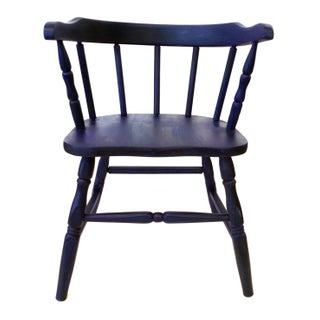 Vintage Marine Blue Children's Chair