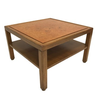 Custom Edward Wormley for Dunbar Burled Elm End or Coffee or Cocktail Table