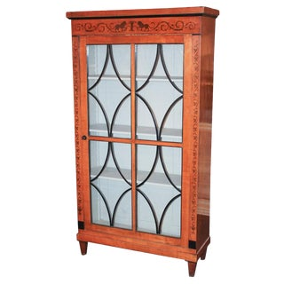 19th c. Biedermeier Fruitwood Bookcase