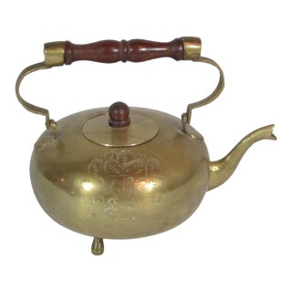 Solid Brass Tea Pot