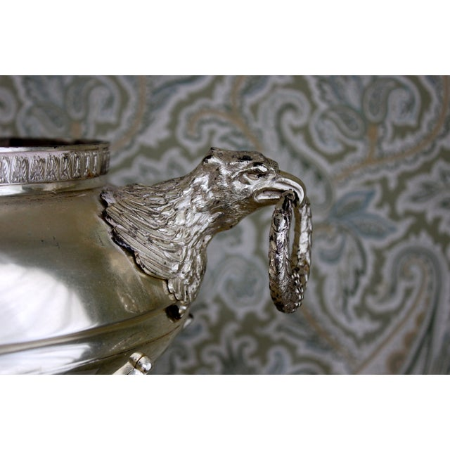 Image of Silver Plated Jardiniere with Eagle Handles