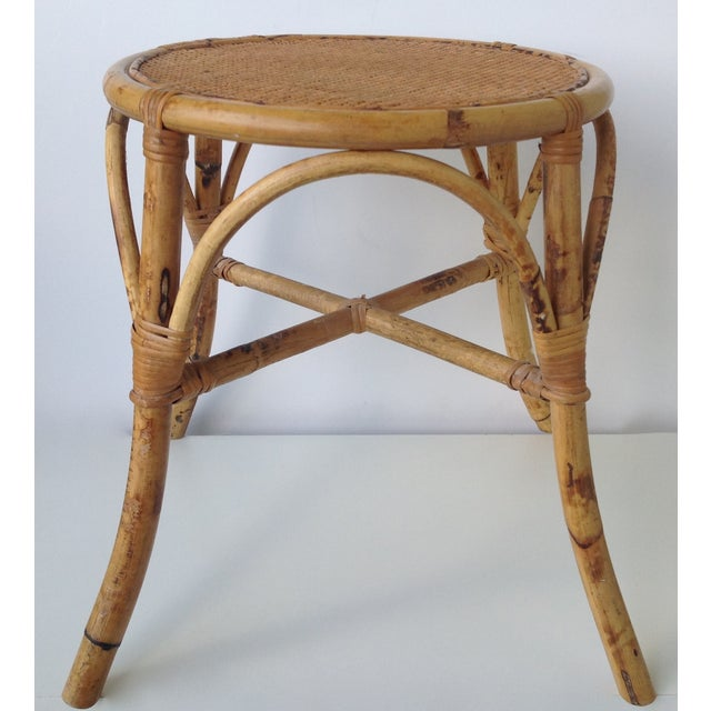 English Bamboo Round Occasional Table - Image 4 of 11