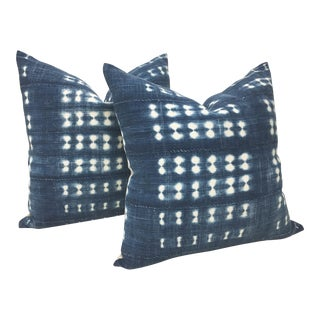 African Indigo Pillows - A Pair