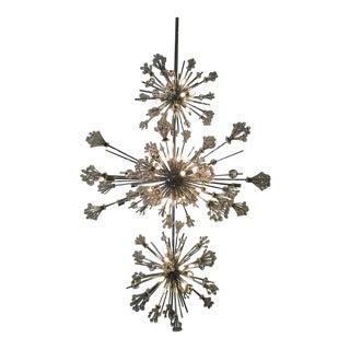 Custom Crystal Chandelier in Style of Lobmeyr