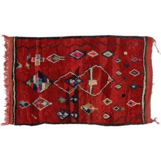 "Vintage Berber Moroccan Rug - 5'1"" X 7'8"""