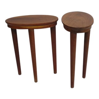 Exceptional Pair of Sculptural French Colonial Side/End Tables