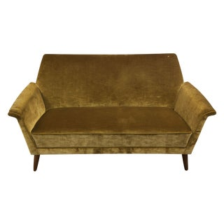 Vintage Golden Velour Love Seat