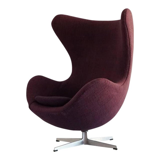 first edition arne jacobsen egg chair 1958 chairish. Black Bedroom Furniture Sets. Home Design Ideas
