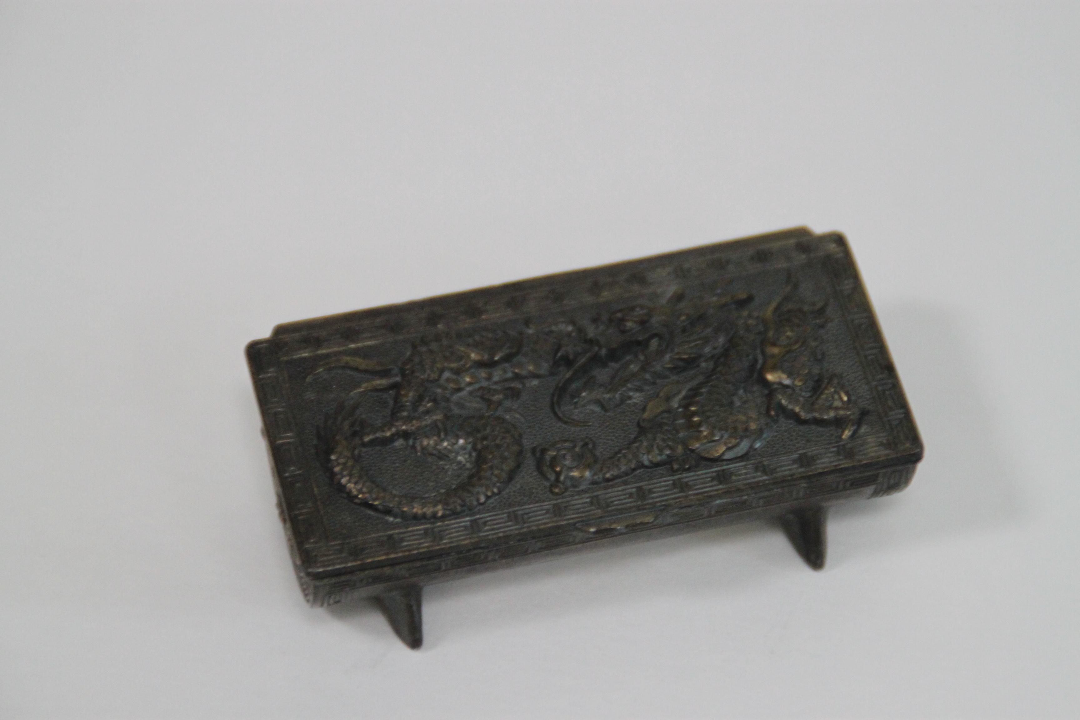 Repouss 233 Chinese Dragon Stamp Box Chairish