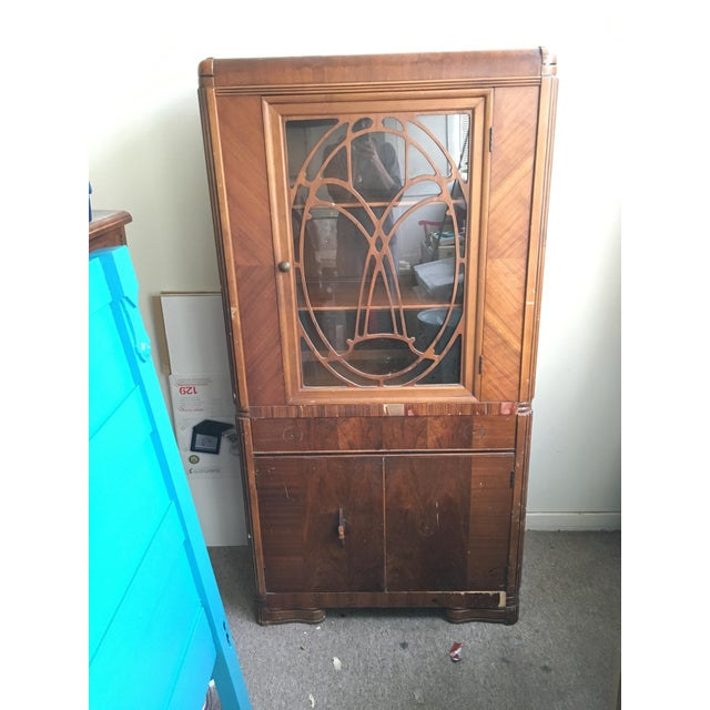 Vintage Waterfall Cabinet or Bar - Image 2 of 9