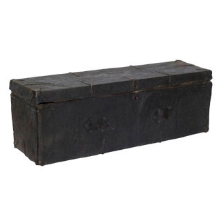 Tibetan Wood Leather & Iron Trunk