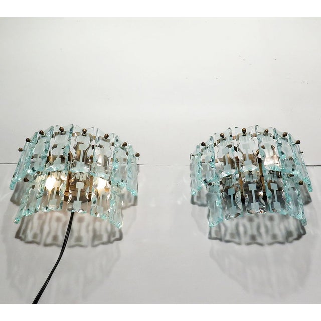 Image of Mid-Century 3 Light Sconces - A Pair
