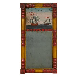 Églomisé Mirror with Sailing Vessels