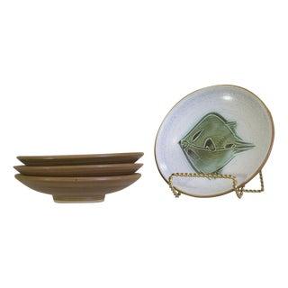 Japanese Mid-Century Studio Pottery Plates