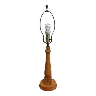 Vintage Brandt Ranch Oak Spindle Western Cowboy Lamp