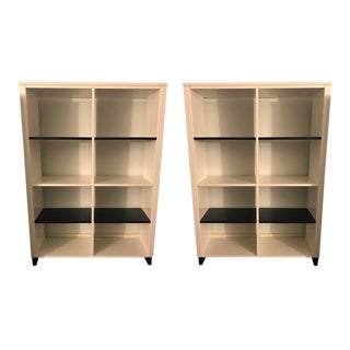 "Room & Board Navy White ""Moda"" Bookcases - a Pair"