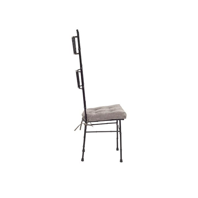 Black Faux Bamboo Dining Chairs - Set of 6 - Image 5 of 5