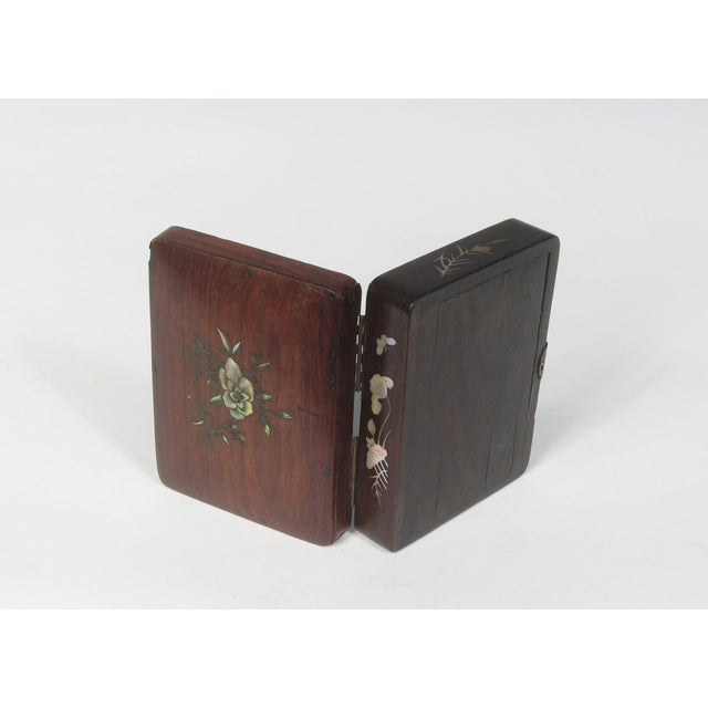 Small Chinese Rosewood Inlay Box - Image 3 of 3