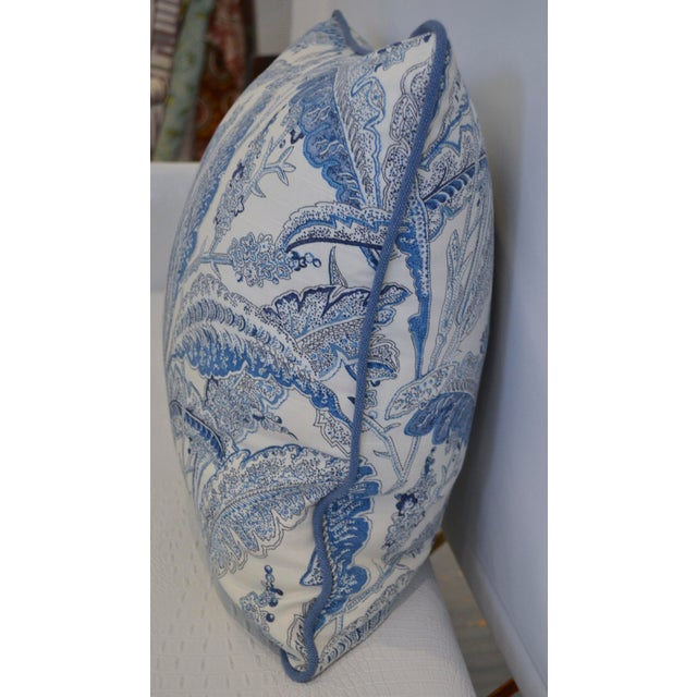 Blue & White Paisley Pillow - Image 3 of 3