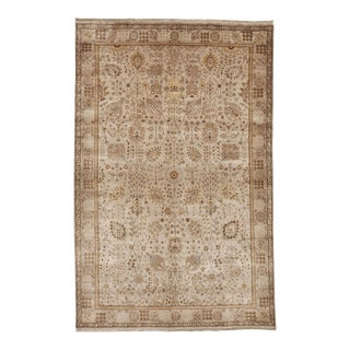 "Hand-Knotted Indian Rug - 5'10"" x 9'"