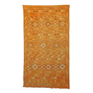 "Yellow Vintage Moroccan Cactus Silk Rug - 4'6"" X 8'0"""