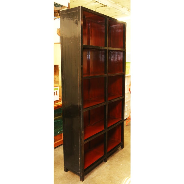 Tall Asian Display Cabinet/Bookshelf - Image 3 of 3