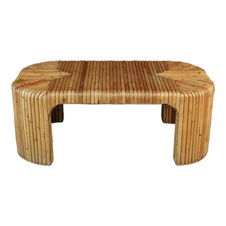 Vintage 1970's Rattan Coffee Table