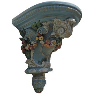 Ornate Swedish Corbel with Garland