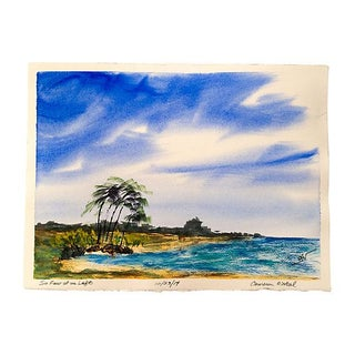 Beach Watercolor Painting by Cameron O'Neal