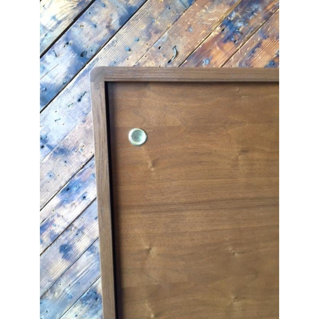Mid Century Style Custom Walnut Sculpted Base Credenza - Image 8 of 9