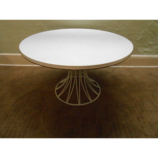 Mid-Century Modern Iron Based Dining Set - Image 2 of 10