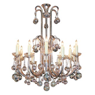 French Silvered Brass Chandelier