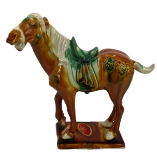 Chinese Tang Style Stallion Horse Figurine
