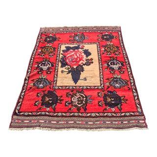 "Vintage Persian Baluchi Area Rug - 3'11"" x 5'6"""
