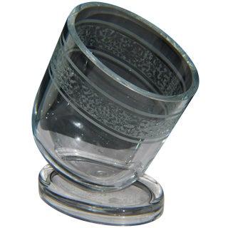 Crystal Slanted Etched Wine Ice Bucket