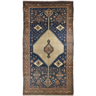 Antique Tribal Persian Hamadan Gallery Rug
