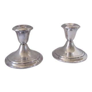 Vintage Gorham Silver-Plate Candle Holders - 2 Pieces