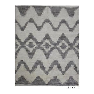 "Aara Rugs Inc. Hand Knotted Navajo Rug - 8'2"" X 9'11"""